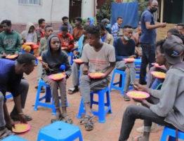 Voedsel kinderen Ethiopie 4x3